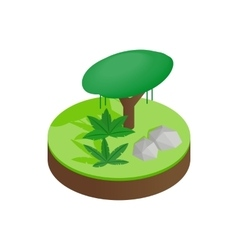 Tropical forest isometric 3d icon vector image