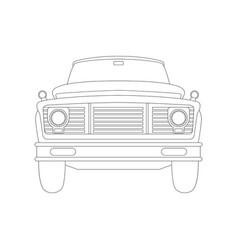 truck car vintage front side vector image