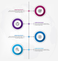 Vertical timeline infographic design template vector
