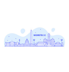 washington d c skyline usa city building vector image