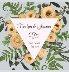 wedding square floral invitation invite card vector image