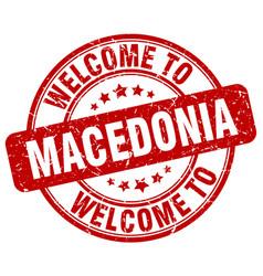 welcome to macedonia vector image
