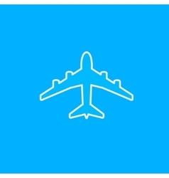 White paper plane icon vector