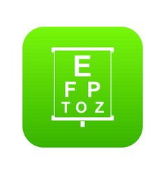 white placard with letters eyesight testing icon vector image