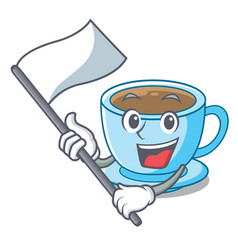 with flag milk tea isolated with the mascot vector image