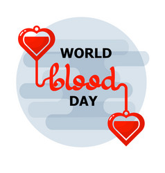 world blood donor day emblem isolated on white vector image
