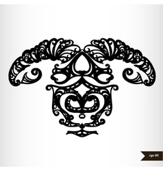 Zodiac signs black and white - Aries vector image