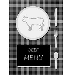 beef menu vector image