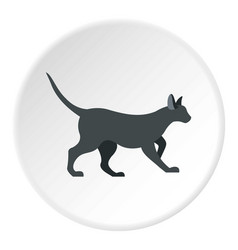 cat icon circle vector image vector image