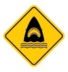 Shark attack warning vector image
