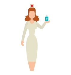 Doctor people woman vector image vector image