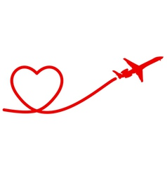 heart plane vector image