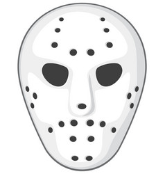 hockey mask vector image vector image