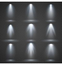 light sources concert lighting stage vector image