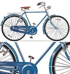 Old Style Retro Bicycle vector image vector image