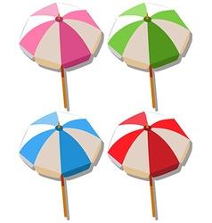 Umbrella in four colors vector image