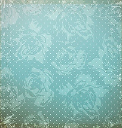 Vintage pattern with roses vector image vector image