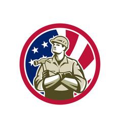 American carpenter usa flag icon vector