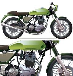 Classic Racing Motorcycle vector image vector image