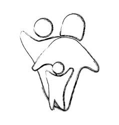 Family pictogram symbol vector
