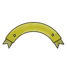 Ribbon frame decorative icon vector