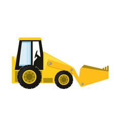 skid steer loader vector image