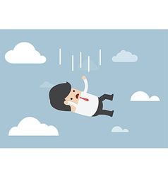 Businessman falling from the sky vector image