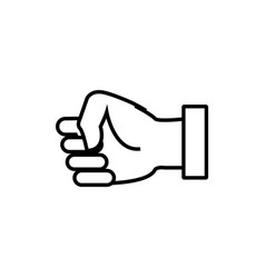 clenched hand symbol vector image