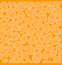 easter seamless pattern decorated eggs vector image vector image