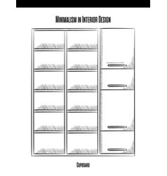 High cabinet with shelves and doors in a contour vector