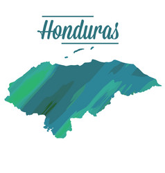 isolated map of honduras vector image