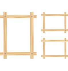 light wooden frame vector image vector image