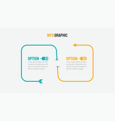 2 steps infographic template with arrow vector