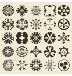25 design element set Twenty five sample object vector image
