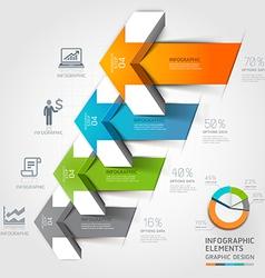 3d arrow business infographics vector