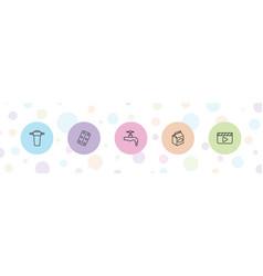 5 take icons vector