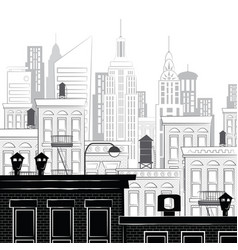 a sketch of new york vector image