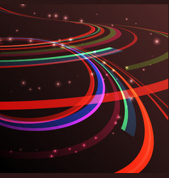 Abstract curving lines ray of vector