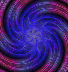 Abstract spiral fractal background vector