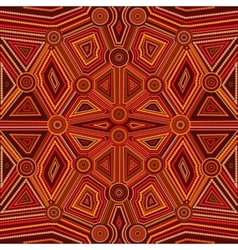 Abstract style of Australian Aboriginal art vector image
