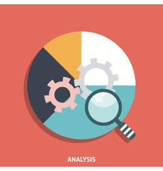 Analysis Icon Flat vector image