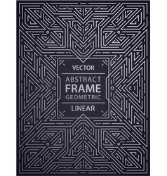Art deco frame abstract geometric design vector
