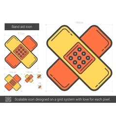 Band aid line icon vector image