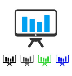 Bar chart monitoring flat icon vector