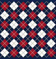 blue and red argyle harlequin seamless pattern vector image