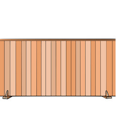 Board fence house real estate vector
