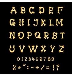 Bones alphabet Letters Halloween cartoon style vector