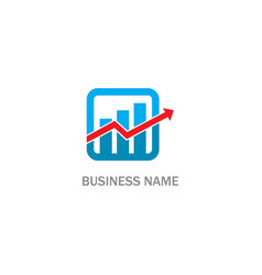 business arrow progress economy logo vector image