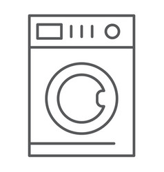 car washing thin line icon laundry and clean vector image