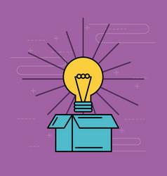 cardboard box idea creative innovation concept vector image